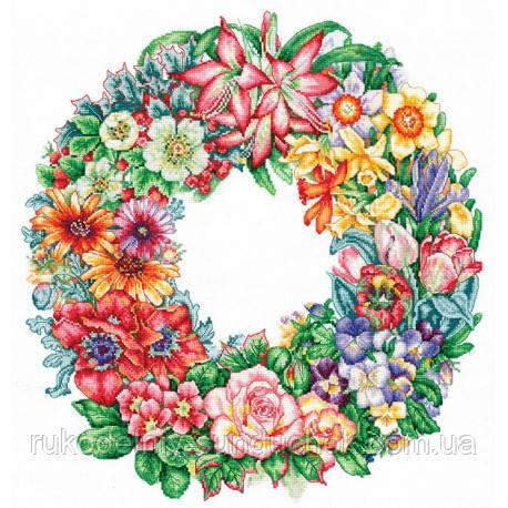 Набір для вишивки хрестом Зроби Своїми Руками Свято квітів Т-15