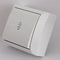 2205  LXL  TERRA  білий  Вимикач прохідний