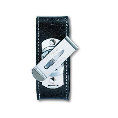 Чохол для ножів шкіряний Victorinox на липучці  з кліпом 2-4 шари 84-91мм (4.0520.31)