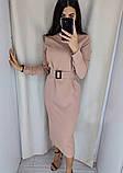 Модное удлиненное платье с поясом,размеры:42,44,46,48., фото 2