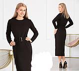 Модное удлиненное платье с поясом,размеры:42,44,46,48., фото 4