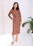 Модное удлиненное платье с поясом,размеры:42,44,46,48., фото 5