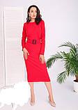 Модное удлиненное платье с поясом,размеры:42,44,46,48., фото 6