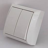 2208  LXL  TERRA  білий  Вимикач подвійний