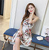 Короткое цветочное платье 42-44р, фото 9