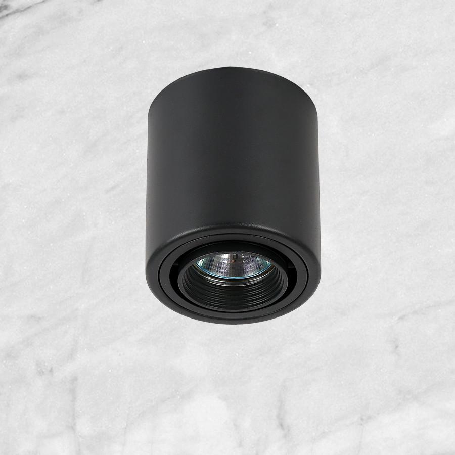 Чёрный точечный светильник с направлением света