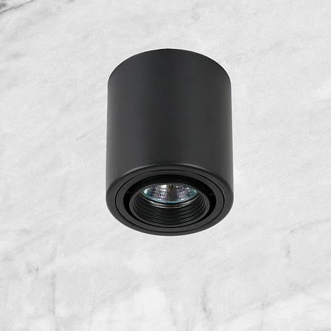 Чёрный точечный светильник с направлением света, фото 2