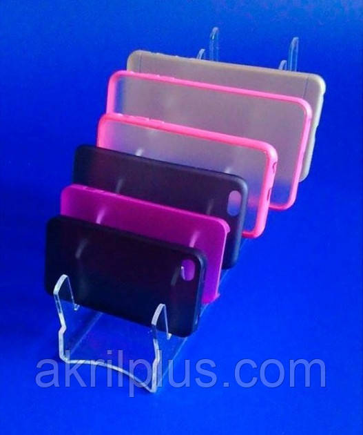 Акриловая подставка для чехлов на телефоны
