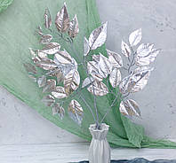 Листья розы серебро латекс премиум, фото 1