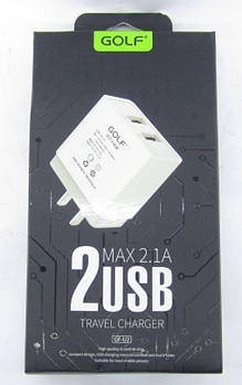 [ОПТ] Сетевой адаптер зарядное устройство Golf GF-U2 2 USB 2.1A 220V