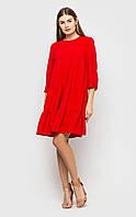 Воздушное платье-туника (красное)