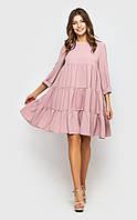 Воздушное платье-туника (розовое)