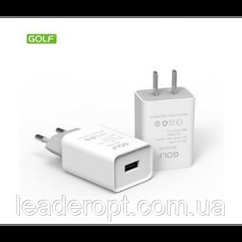 [ОПТ] Сетевой адаптер зарядное устройство Golf GF-U206S 1 USB 2.1A Fast Safety Charging 220V