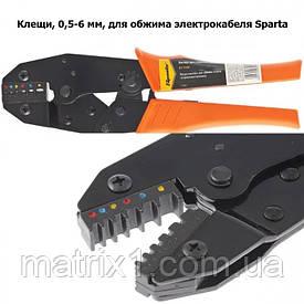 Клещи, 0,5–6 мм, для обжима электрокабеля Sparta