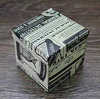 Подарочная коробочка с нанесенной офсетной печатью.(105*105*105мм)