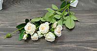 Ветка роз натур крем премиум