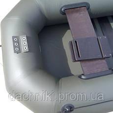 Надувная двухместная Лодка SKIF 250Т Навесной транец под мотор ПВХ, фото 2