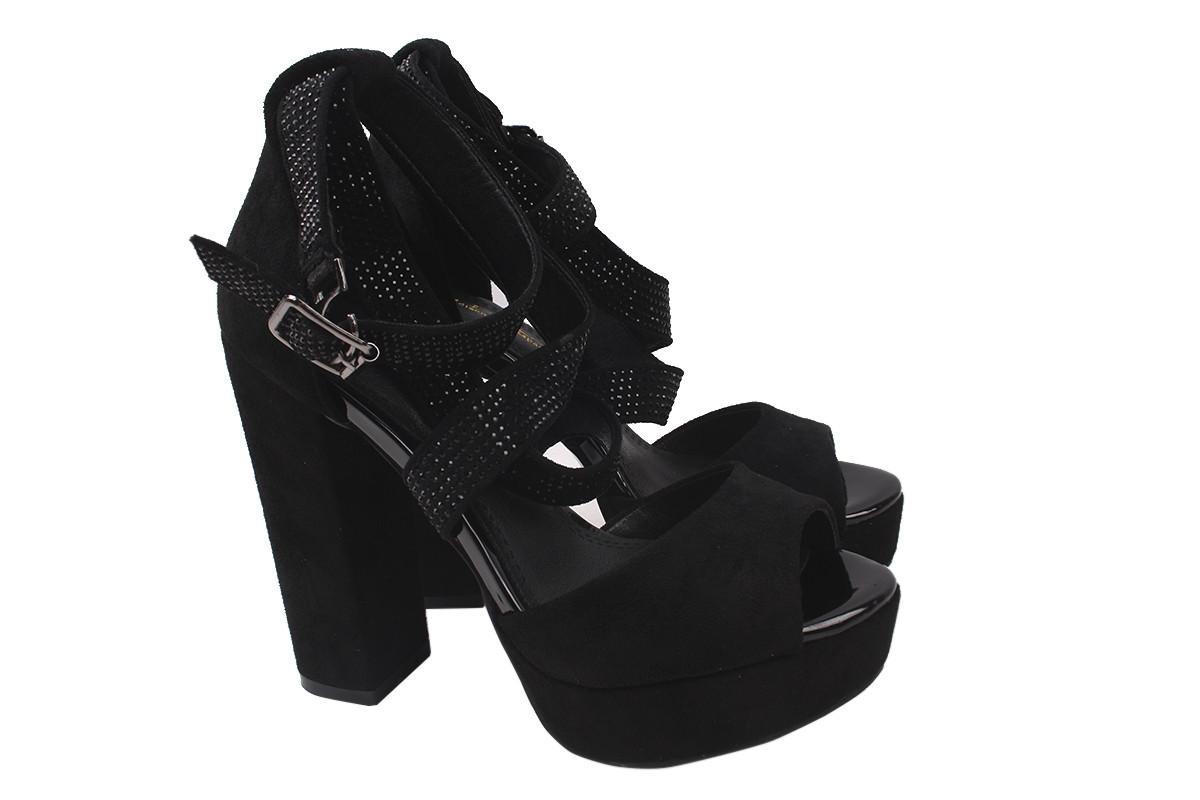 Босоніжки жіночі Liici еко-замша, колір чорний, розмір 35-39