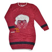 Пуловер для девочки,удлиненный (6-7;8-9;10-11 лет)Детская одежда оптом.