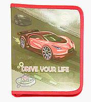 Папка для тетрадей Картон на змейке для мальчика Kidis В-5 Машина-Drive14014