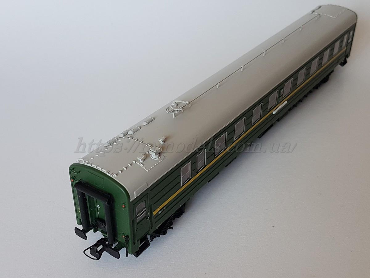 Heris80020Модель вагона пассажирского, купейный штабной , принадлежность СЖД, масштаба1:87,H0