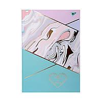 """Блокнот для записей YES """"MARBLE&GOLD"""" в линию, А4, 96 листов, твердая обложка"""