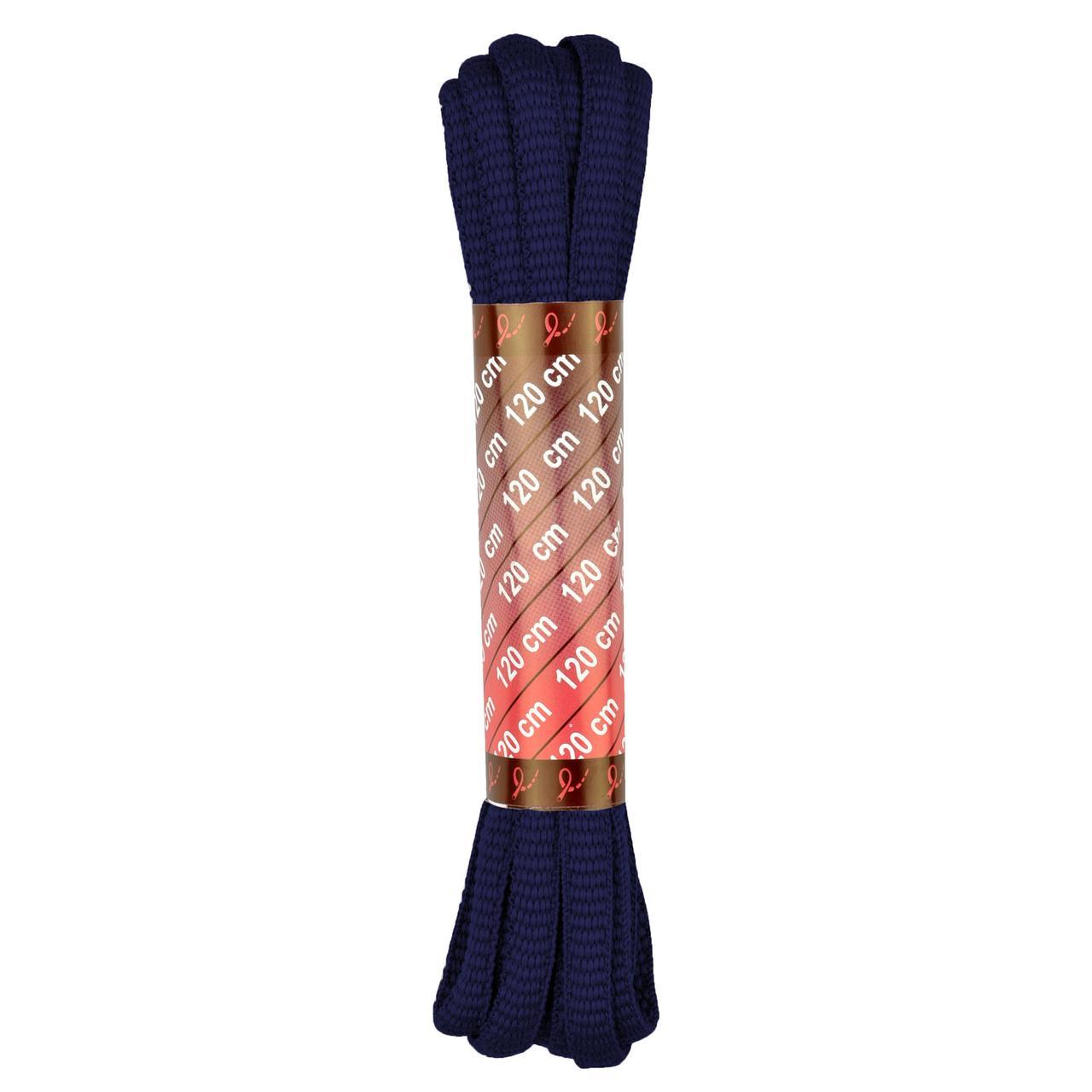 Шнурки для кроссовок 120 см., темно-синие