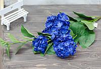Ветка гортензии синего цвета премиум, фото 1