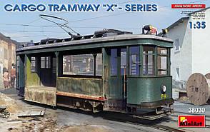 """Грузовой трамвай серии """"Х"""". Сборная модель в масштабе 1/35. MINIART 38030"""