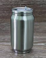 "Банка термос ""Coca-Cola""для сублимации. Металлик/350мл."
