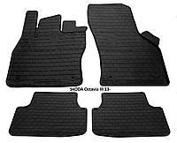 Резиновые автомобильные коврики в салон SKODA Octavia III 2013 шкода октавия а7 Stingray