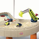 Little Tikes Детская песочница стол Веселая стройка с зонтом 401N Children's sandbox table Merry building, фото 2