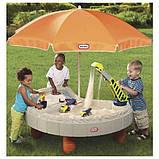 Little Tikes Детская песочница стол Веселая стройка с зонтом 401N Children's sandbox table Merry building, фото 3