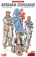Набор пластиковых фигур для сборки. Афганские гражданские в масштабе 1/35. MINIART 38034