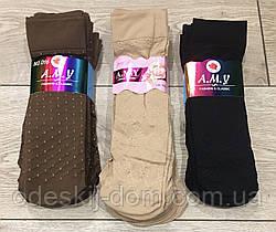 Капроновые носочки 80d с узором тм AMY  черные