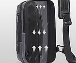 Однолямочный рюкзак Bange BG-7082 кодовый замок 9л серый, фото 5
