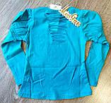 Дитячий костюм MISS реглан і джинсова спідниця з пояском, фото 6