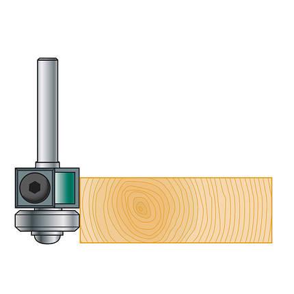 19х30х12 z=2 Фреза Stehle для ручного фрезера для обработки кромки со сменными ножами и нижним подшипником, фото 2