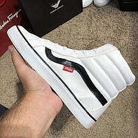 Vans Sk8 Hi Chex Skate Shoes White