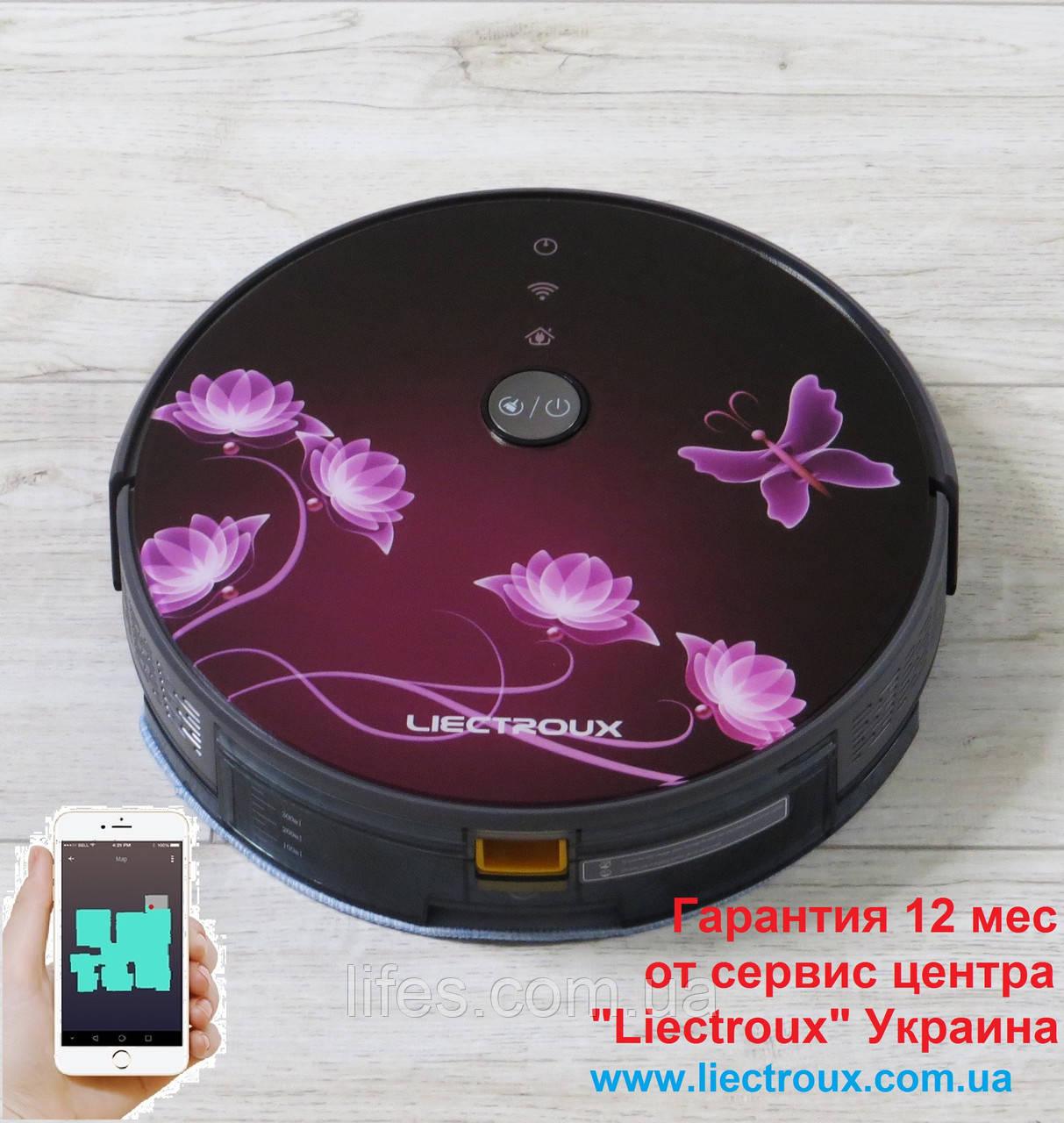 Робот - пылесос LIECTROUX C30B. Рубиновая сакура. WI-FI. Немецкий бренд. Европейская версия. Модель 2020 года.