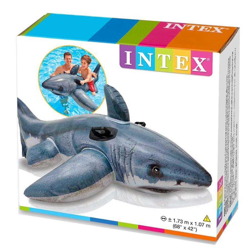 Детский надувной плотик игрушка Акула 173х104см