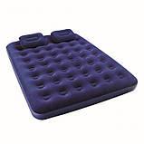 Матрас с 2-мя подушками и ручным насосом, 203-152-22см , фото 3