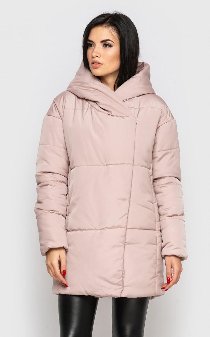 Подовжена куртка (пудра)