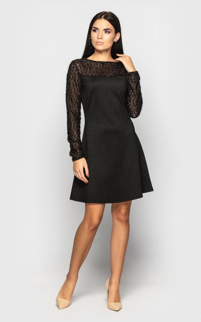 Платье нарядное (черное)