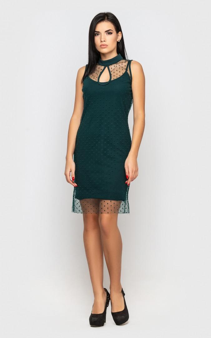 Платье праздничное (зеленое)