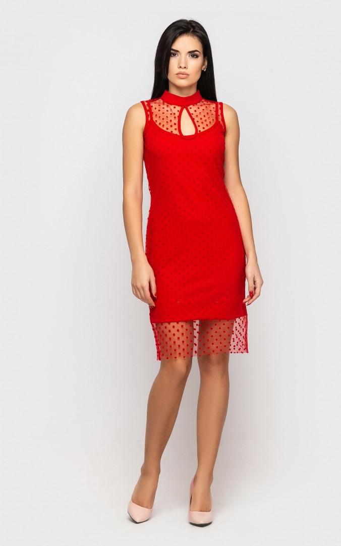 Платье праздничное (красное)