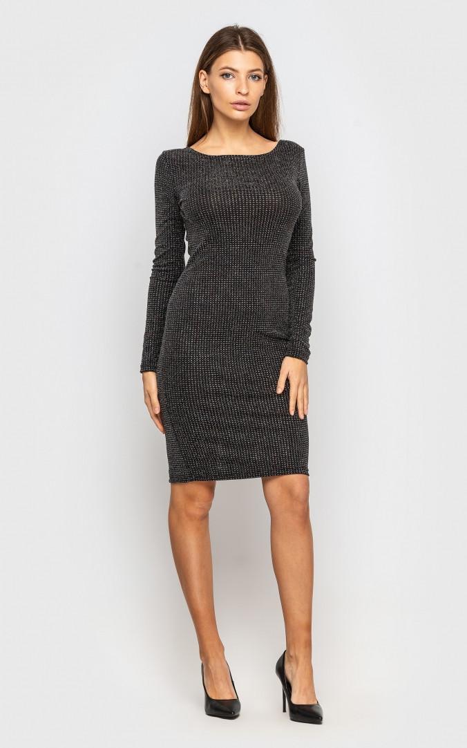 Платье с камнями (серое)