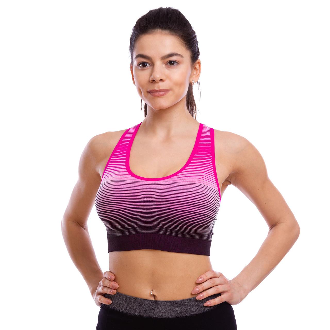 Топ для фитнеса и йоги размер M-L-40-48 Серый-бордовый M (40-44) PZ-CO-0819_1