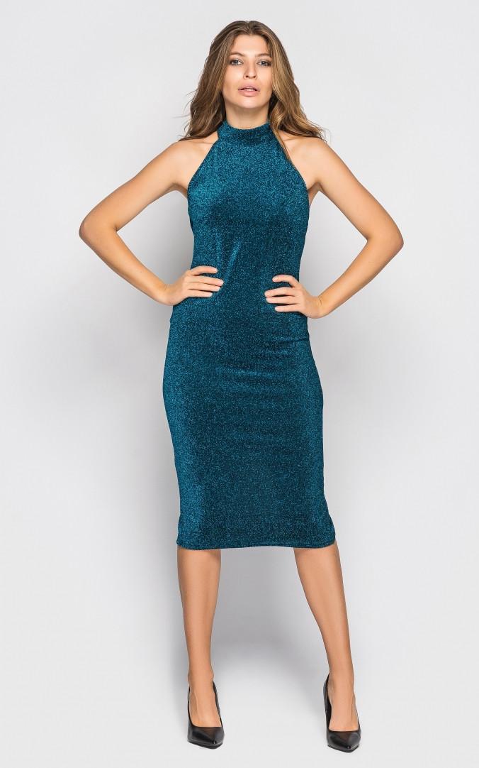 Платье нарядное (бирюзовое)