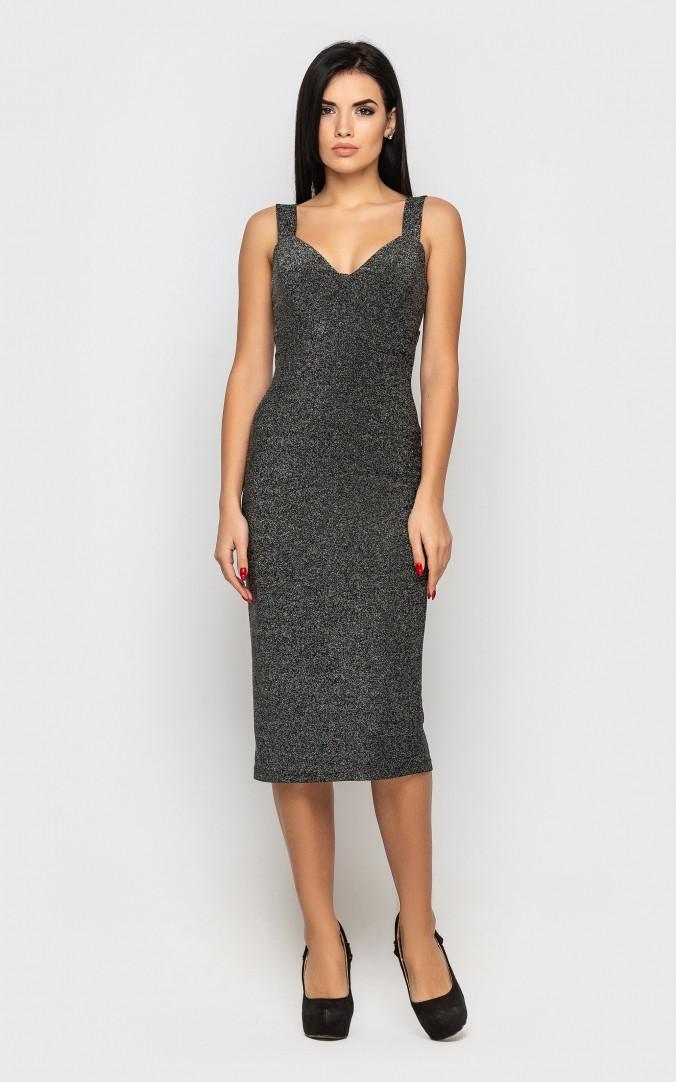 Сукня міді (сіре)